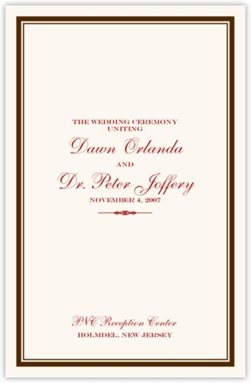 Elegance and Engravers Jewish Wedding Programs
