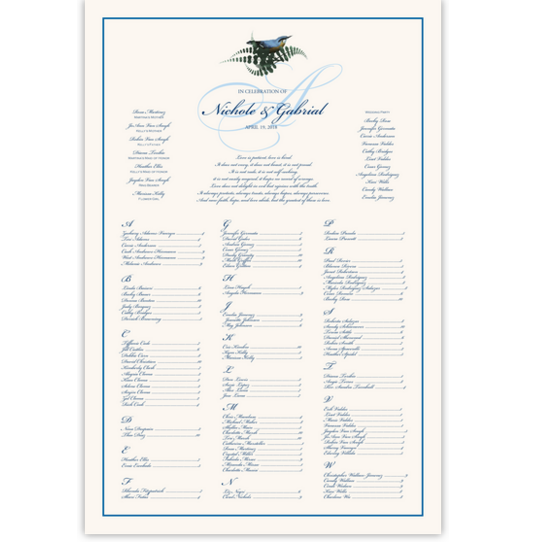 Loopie Birds and Butterflies Seating Charts