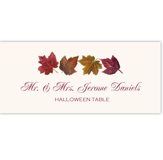 Maple Leaf Pattern Autumn/Fall Leaves Place Cards
