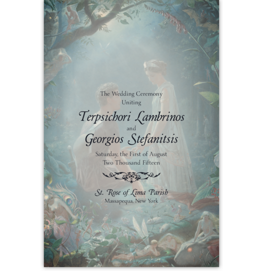 Midsummer's Night Dream Contemporary and Classic Wedding Programs