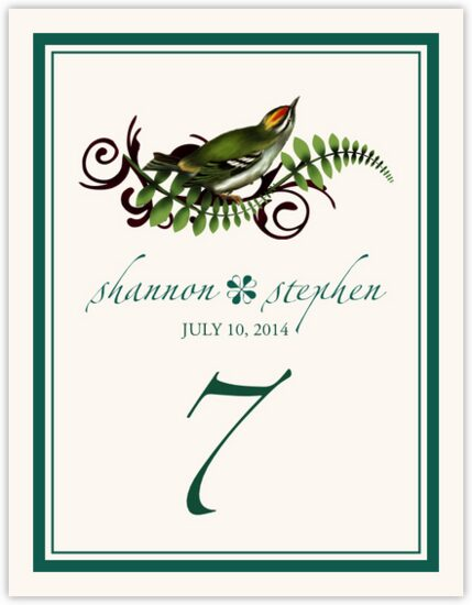 Petey Boy Birds and Butterflies Table Numbers