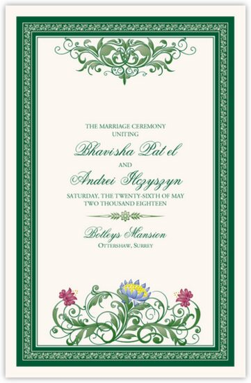 Moon Bloom Contemporary and Classic Wedding Programs