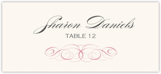 Ornate Line Flourish 0510 Contemporary and Classic Place Cards