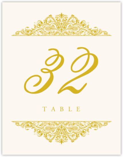 Paisley Contemporary and Classic Table Numbers