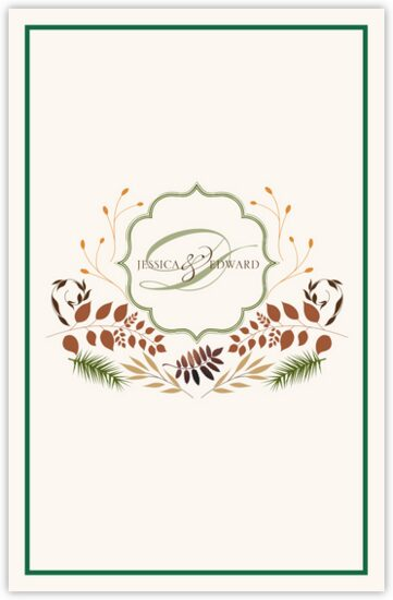 Peaceful Autumn 02 Autumn/Fall Leaves Wedding Programs