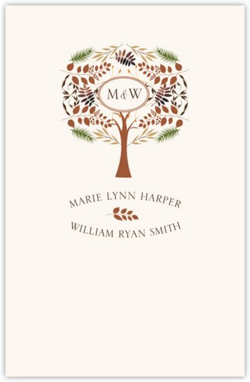 Peaceful Autumn 03 Autumn/Fall Leaves Wedding Programs