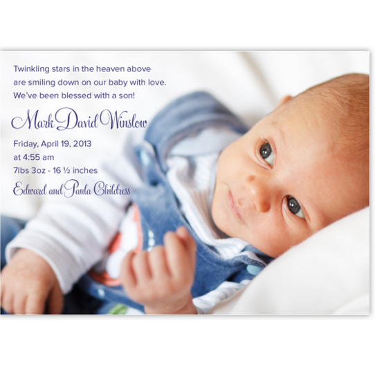 Starstruck Birth Announcements
