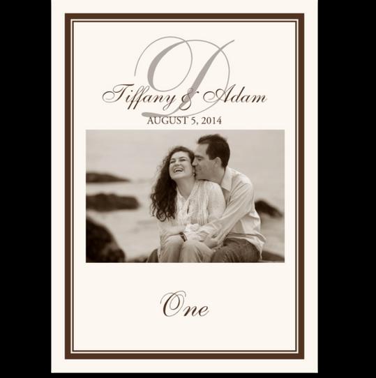 Photography 01 Photo Wedding Table Numbers