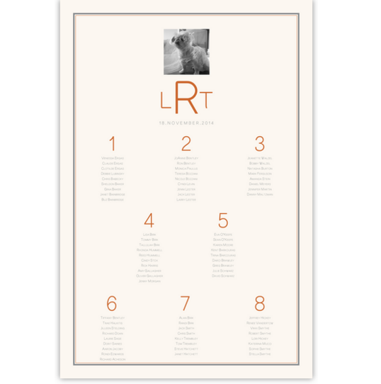 Simple Affair Photography Photography Wedding Seating Charts