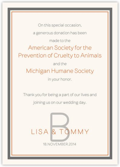 Brownstone Monogram 15 Contemporary and Classic Donation Cards