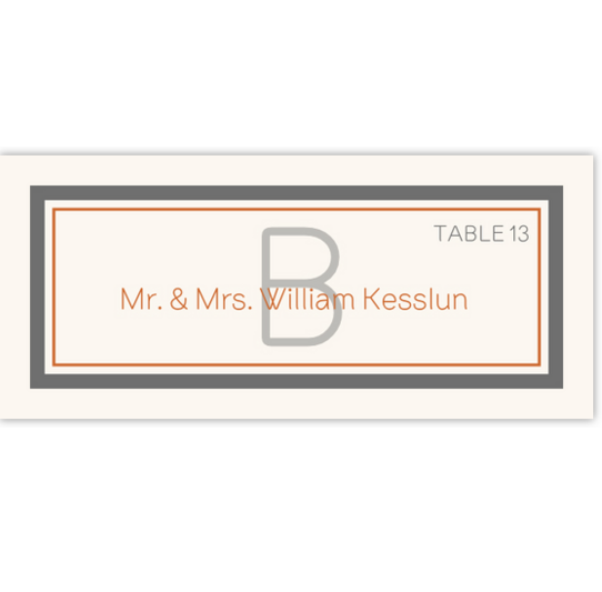 Brownstone Monogram Contemporary and Classic Place Cards