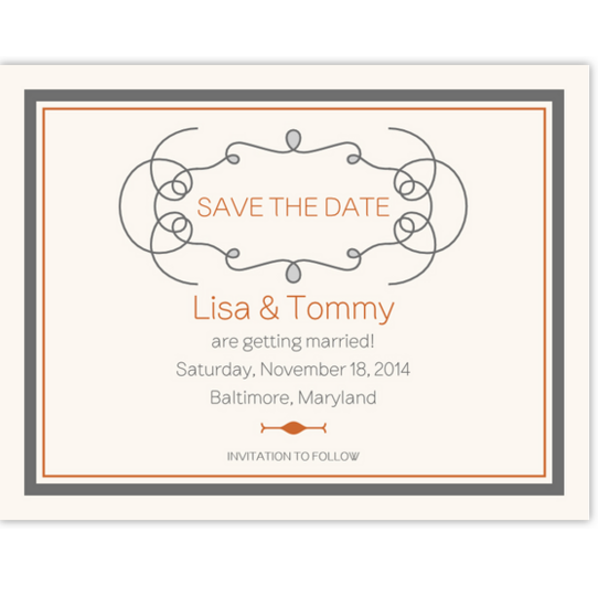 Brownstone Monogram 15 Contemporary and Classic Save the Dates