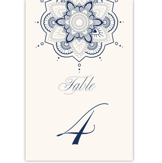 Star Mandala Contemporary and Classic Table Numbers