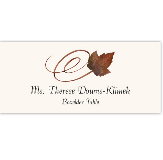 Boxelder Swirly Leaf Autumn/Fall Leaves Place Cards