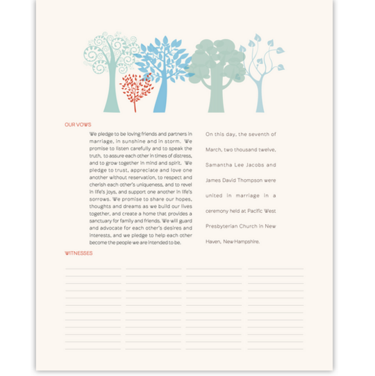 Transparent Forest Flower Wedding Certificates
