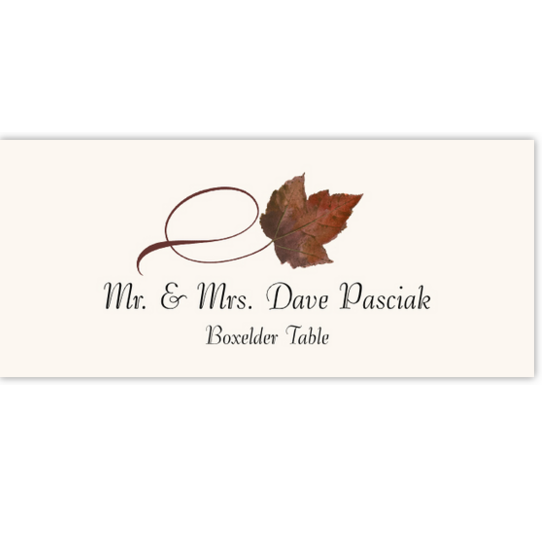 Boxelder Twisty Leaf Autumn/Fall Leaves Place Cards