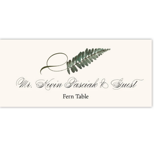 Fern Twisty Leaf Autumn/Fall Leaves Place Cards