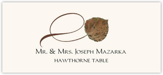 Hawthorne Twisty Leaf Autumn/Fall Leaves Place Cards