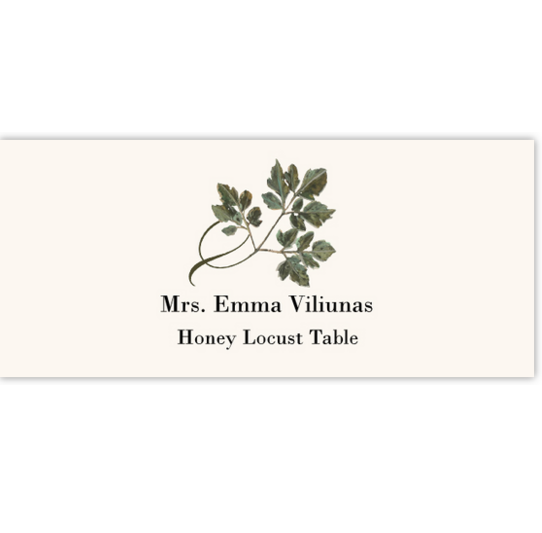Honey Locust Twisty Leaf Autumn/Fall Leaves Place Cards