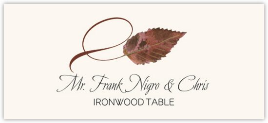 Ironwood Twisty Leaf Autumn/Fall Leaves Place Cards
