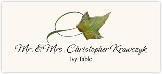 Ivy Twisty Leaf Autumn/Fall Leaves Place Cards