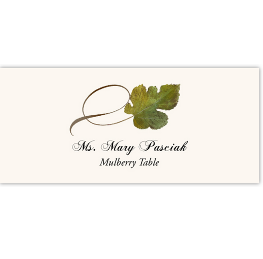 Mulberry Twisty Leaf Autumn/Fall Leaves Place Cards