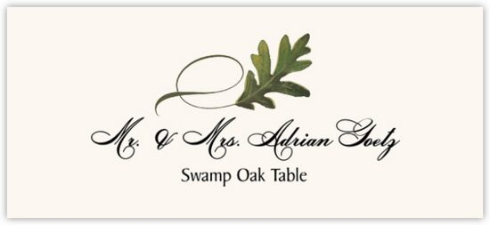 Swamp Oak Twisty Leaf Autumn/Fall Leaves Place Cards