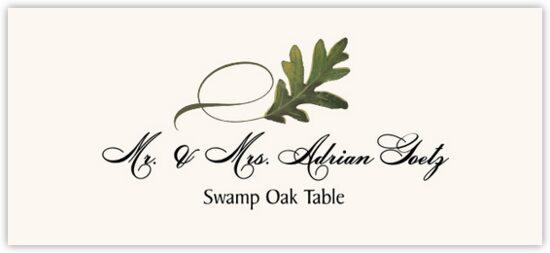 Swamp Oak Twisty Leaf Autumn/Fall Leaves Place Cards