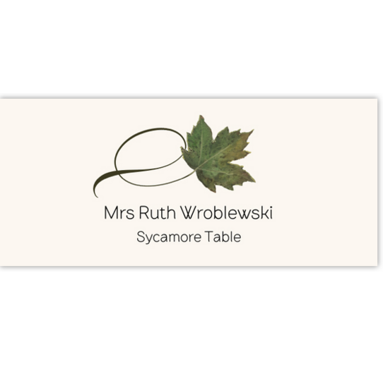 Sycamore Twisty Leaf Autumn/Fall Leaves Place Cards