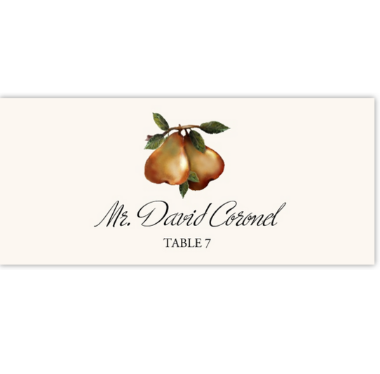 Two Pears Fruit, Grapes and Vineyard Place Cards