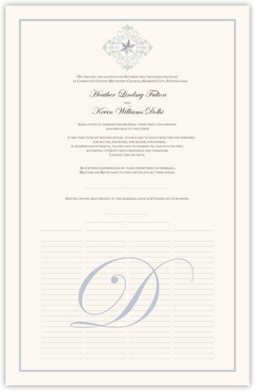 Vintage Spiral Snowflake Winter and Snowflake Wedding Certificates