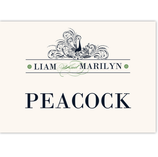 Pompous Peacock Birds and Butterflies Table Names
