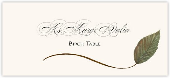 Birch Wispy Leaf Autumn/Fall Leaves Place Cards