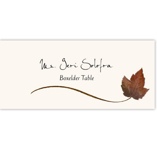 Boxelder Wispy Leaf Autumn/Fall Leaves Place Cards