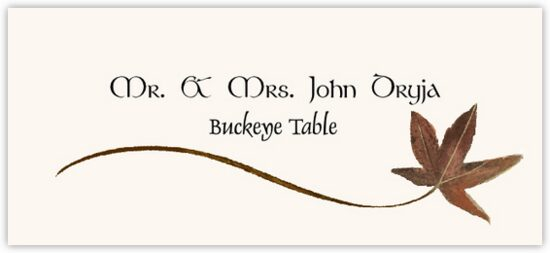 Buckeye Wispy Leaf Autumn/Fall Leaves Place Cards