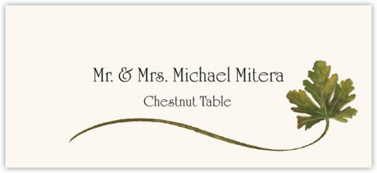 Chestnut Wispy Leaf Autumn/Fall Leaves Place Cards