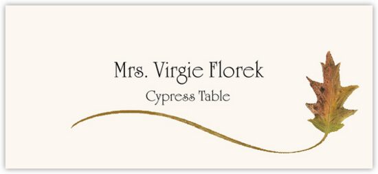 Cypress Wispy Leaf Autumn/Fall Leaves Place Cards