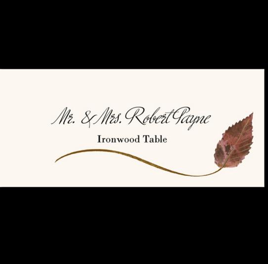 Ironwood Wispy Leaf Autumn/Fall Leaves Place Cards