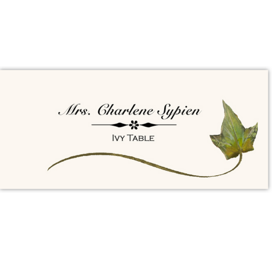 Ivy Wispy Leaf Autumn/Fall Leaves Place Cards