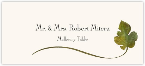 Mulberry Wispy Leaf Autumn/Fall Leaves Place Cards