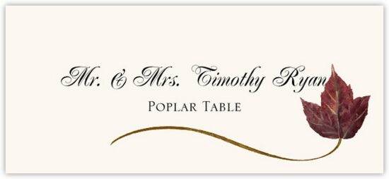 Poplar Wispy Leaf Autumn/Fall Leaves Place Cards