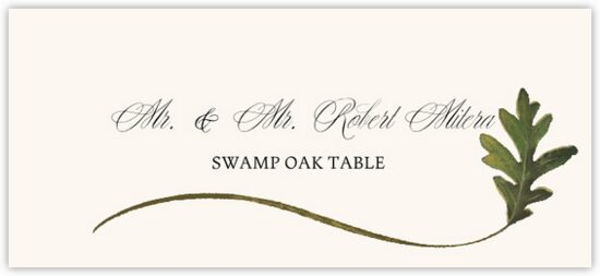 Swamp Oak Wispy Leaf Autumn/Fall Leaves Place Cards