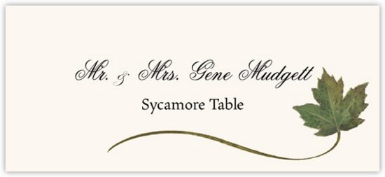 Sycamore Wispy Leaf Autumn/Fall Leaves Place Cards