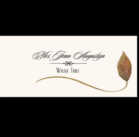 Walnut Wispy Leaf Autumn/Fall Leaves Place Cards