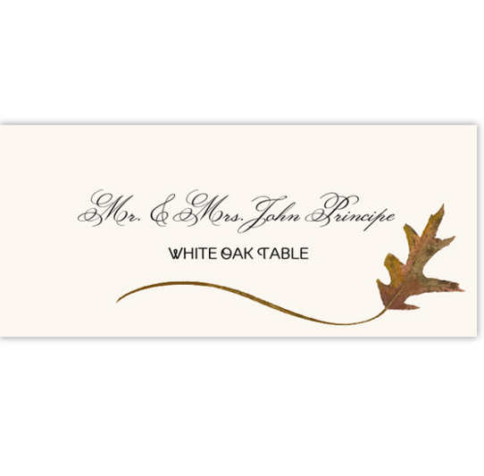 White Oak Wispy Leaf Autumn/Fall Leaves Place Cards