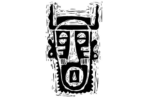 Cultural Illustrations African Mask 01 Artwork