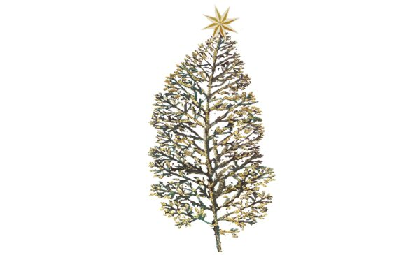Winter and Holiday Christmas Tree - Gold Artwork