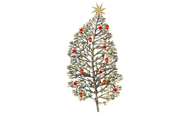 Winter and Holiday Christmas Tree - Red Artwork