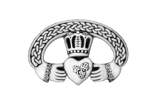 Cultural Illustrations Claddagh Ring (silver) Artwork