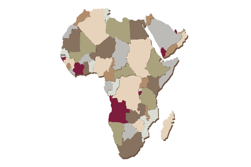 Cultural Illustrations Map of Africa Artwork